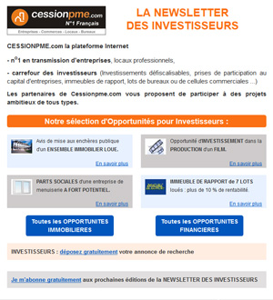 Newsletter Investisseur CessionPME