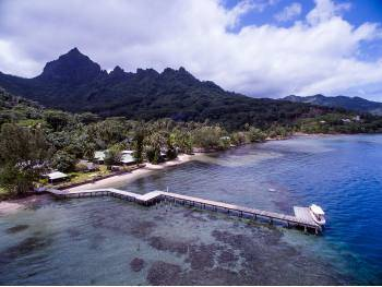 Vente hôtel/pension en bord de plage à Moorea